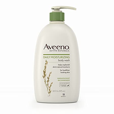 Aveeno Active Naturals Body Wash – Daily Moisturizing – Net Wt. 33 FL OZ 975 mL Per Bottle – Pack of 2 Bottles