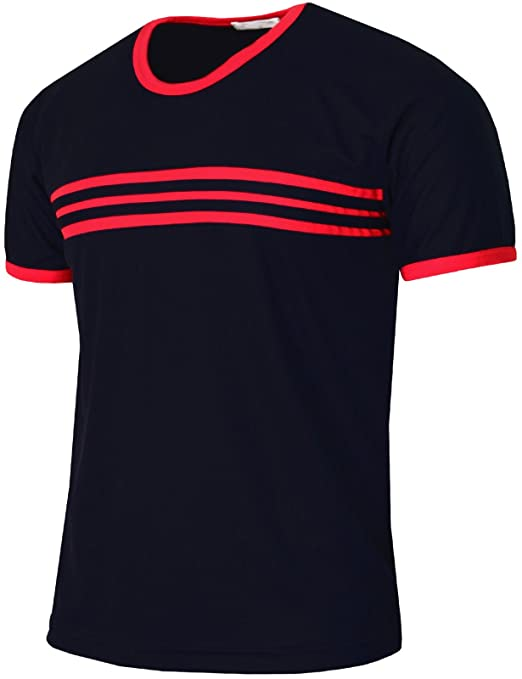 BCPOLO Mens Casual Coolmax Fabric Round Neck Short Sleeve T-Shirt Daily wear | Amazon.com