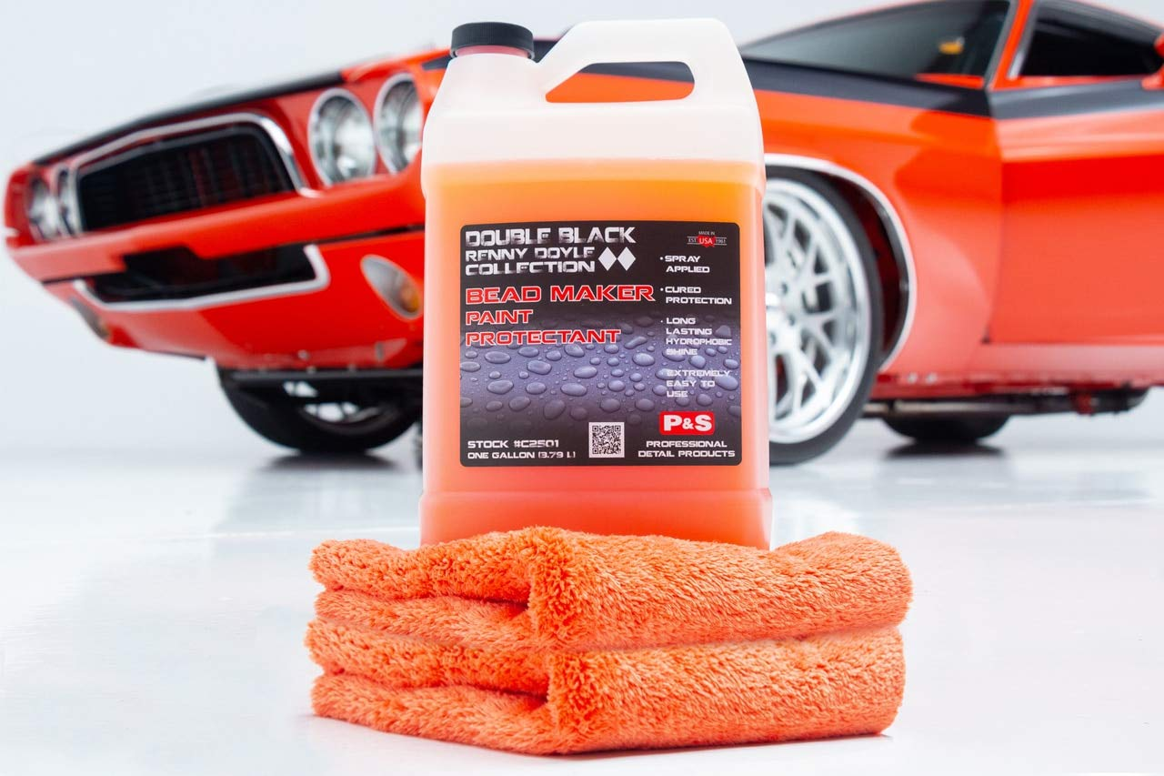 P&S Detailing Products C2501 + C250P Bead Maker Paint Protectant Combo Kit (1 Gallon + 1 Pint) with Bead Maker Ultimate Microfiber Towels from The RAG Company by P&S Detailing Products (Image #2)
