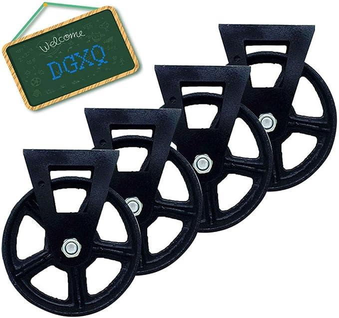 300 kg Rueda giratoria para muebles industriales vintage de 150 mm acabado envejecido