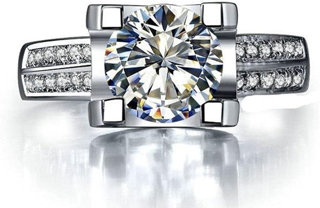 Gnzoe Jewelry, Women Wedding Ring Vintage Design Cubic Zirconia, Customized Ring