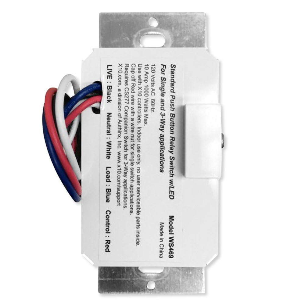 X10 WS469 Push Button Relay Wall Switch - - Amazon.com