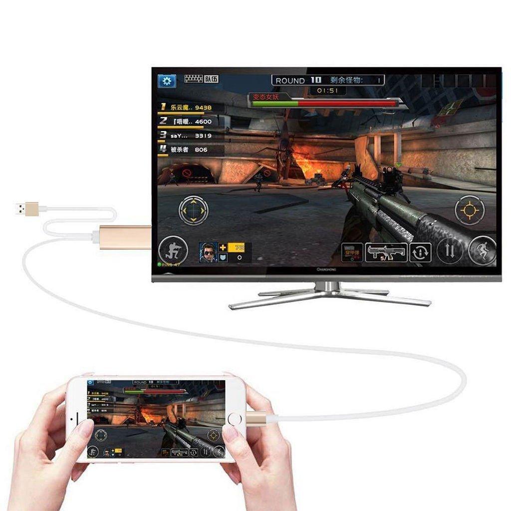 HDMI HDTV AV Cable Adaptador para Apple iPhone 5S (Dorado): Amazon ...