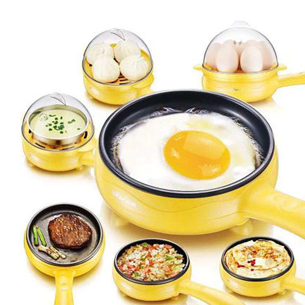 SVNA Multi-Function Electric Steamer Double-Layer Non-Stick Pan Fast Boiled Egg 7 Egg Capacity Automatically Turn Off No Noise,Yellow