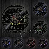Cheap Steampunk Turtle Wall Clock Steampunk Sea Turtle Vintage Ornament Gear Vinyl Record Clock Animal Lovers Decorative Clock (With LED)
