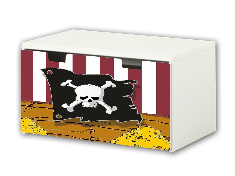 Pirates Furniture Film | BT18 | Furniture sticker with butterfly Motive | matching to the children's storage bench STUVA of IKEA (90 x 50 cm) Furniture Not Included | STIKKIPIX STIKKIPIX®
