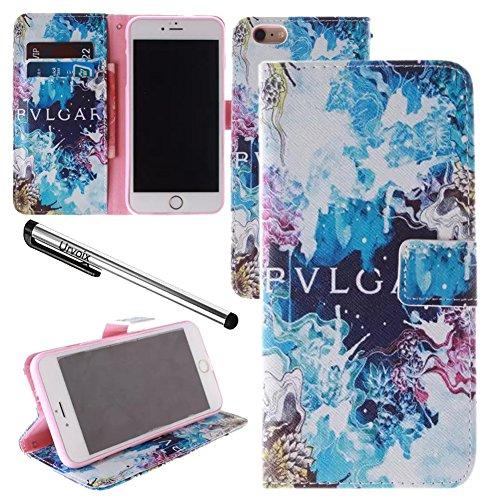 Für 11,9cm iPhone 6/6S, urvoix (TM) Fancy Druck PU Leder Flip Wallet Case Cover–W/Bild auf Karte Halter, Magnetverschluss, Ständer Funktion für iPhone 6/6S (passt nicht für 6/6splus)