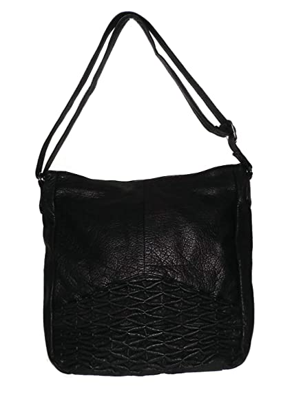 867406b37005 Amazon.com  Day   Mood Women s Vintage Leather Isa Hobo Crossbody Shoulder  Bag Black  Everything Else