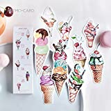 RedSonics - 30 pcs/Pack Summer Sweet Ice Cream Taste Paper Bookmark Gift Stationery Film Bookmarks Book Holder Message Card School Supplies