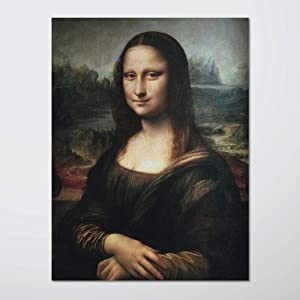 H5print Wall Art Posters Mona Lisa Poster by Leonardo Da Vinci Poster for Home Office Decoration 18x24 inches