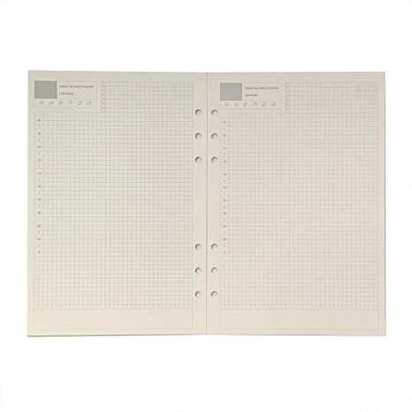 A5 Daily Planner Refill, Spiral Notebook Refill, for Filofax, Harphia(A5 5.59 x 8.27,Daily)