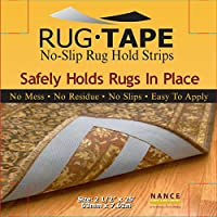 Nance Industries Great Tape No-Slip Rug Hold Strips, 25 Foot Roll, Great Small Area Rugs