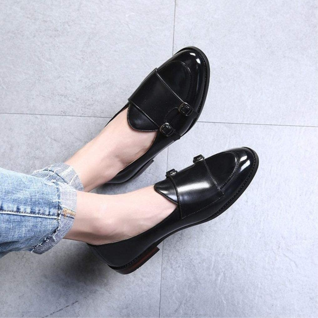Mens Casual Shoes Peas Shoes Retro Loafers British Genuine Leather Mens Shoes