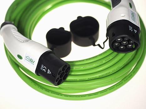 5M Monof/ásico 32A 5M IEC 62196-2 hzexun EV Cable de Carga,32A Cable de Carga EV Tipo 2 a Tipo 2 para la estaci/ón de Carga Cargador EV