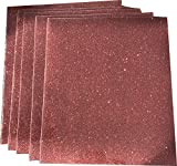 "Five (5) 10""x12"" Sheets of Siser Glitter Iron-on"