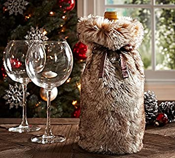 1d2bedfbb00a Image Unavailable. Image not available for. Color  Nicole Miller Luxe Faux-Fur  Wine Bag ...