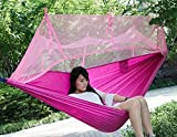 DANCHEL Ultralight Hanging Tent Outdoor Hammock Tent with Mosquito Net for one person outdoors 260140cm,Pink