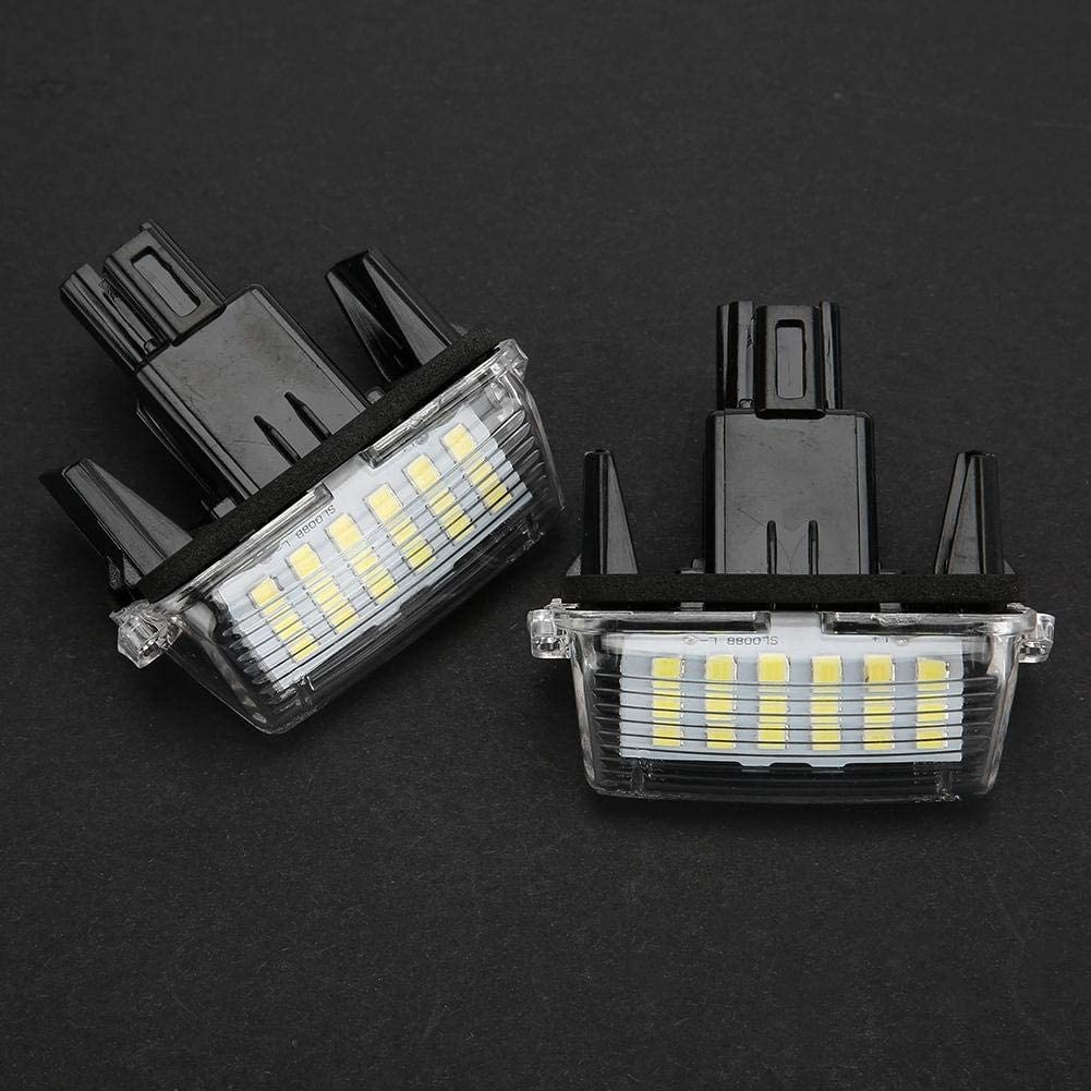 License Plate Light 1 Pair LED Number License Plate Light Lamp for Toyota Corolla 2014 Camry 2012-2015 Yaris 2012-2014 Vios 2014-2016