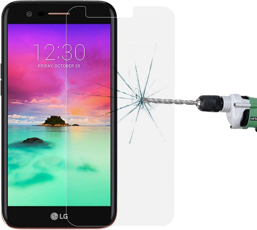No Retail Package 0.26mm 9H Surface Hardness Explosion-Proof Non-Full Screen Tempered Glass Screen Film LGYD for 50 PCS for LG K10 2017