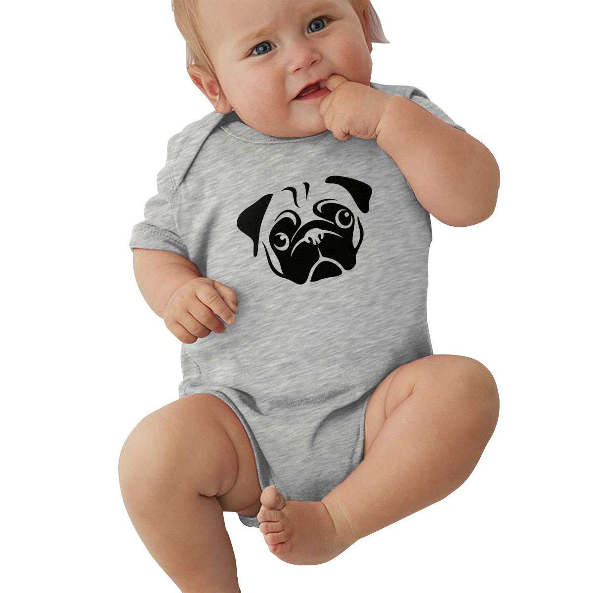 Infant Baby Girl Boy Pug BodysuitRomper Jumpsuit Short Sleeve Bodysuit Tops Clothes