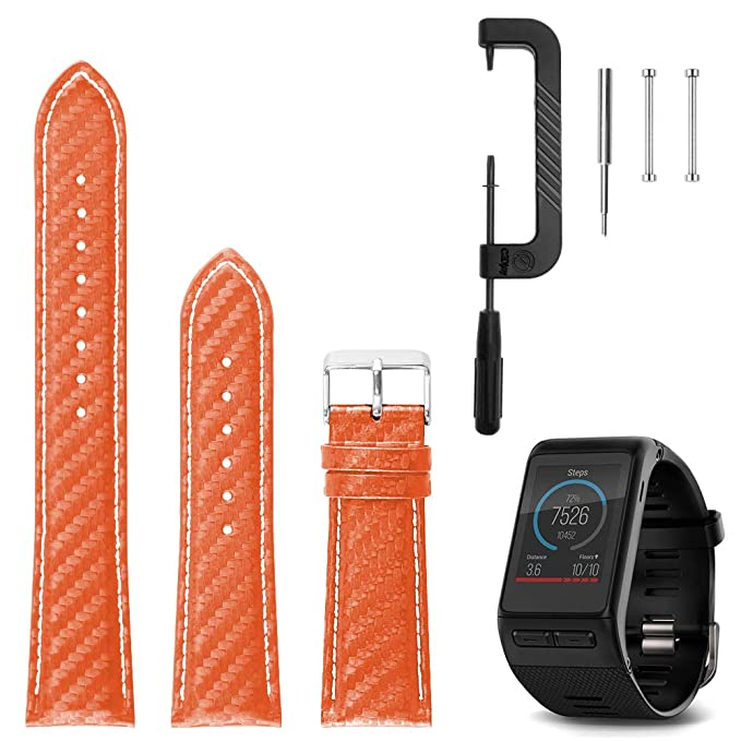 ad265c8c8 C2D JOY Compatible with Garmin vivoactive HR Replacement Bands - GPS  Smartwatch Carbon Fibre Watch Band