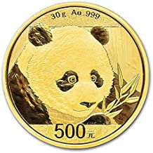 2018 CN China Gold Panda (30 g) 500 Yuan Brilliant Uncirculated China Mint