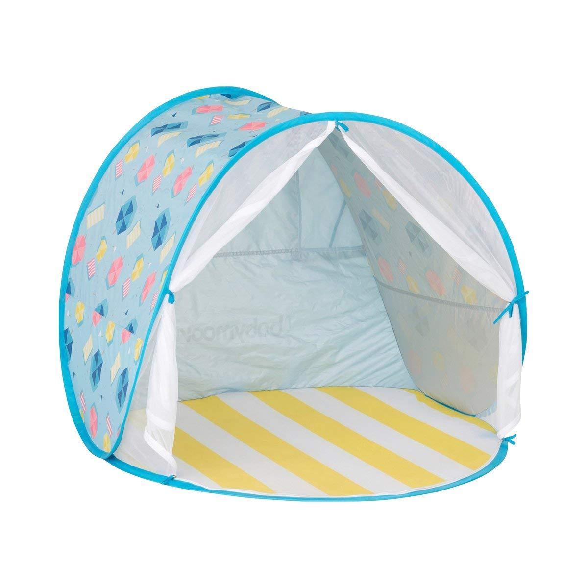 Babymoov Tente de plage avec protection UV, bleu ciel/multicolore