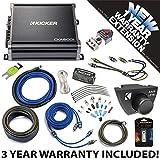 Kicker 43CXA6001 Car Audio Sub Amp CXA600.1 with Remote & 4 GA Amplifier Accessory Kit - 3 Year Warranty!