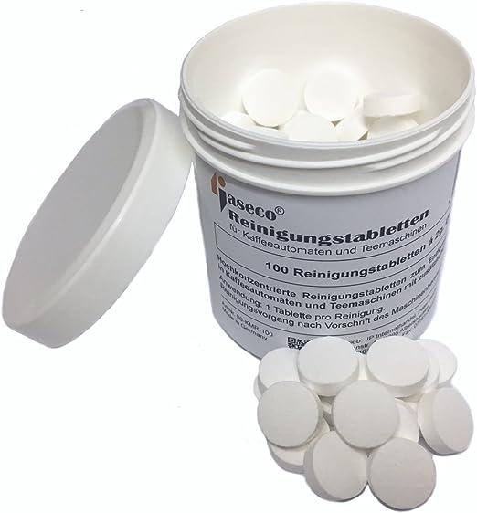 jaseco 100 unidades pastillas de limpieza para cafeteras ...