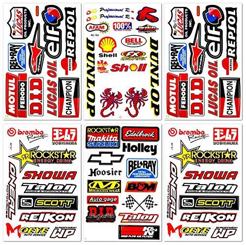 Dirt Bike Pro Motocross Supercross Motorcycles MotoGP ATV Helmet Racing Lot 6 Vinyl Graphic Decals Stickers D6205 (Craft Pro Cool Bike)