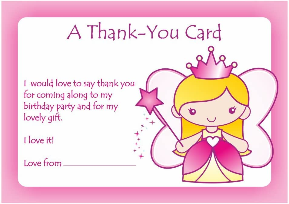 School Stickers Girls Thank You Party Cards Amazon Co Uk Office Products