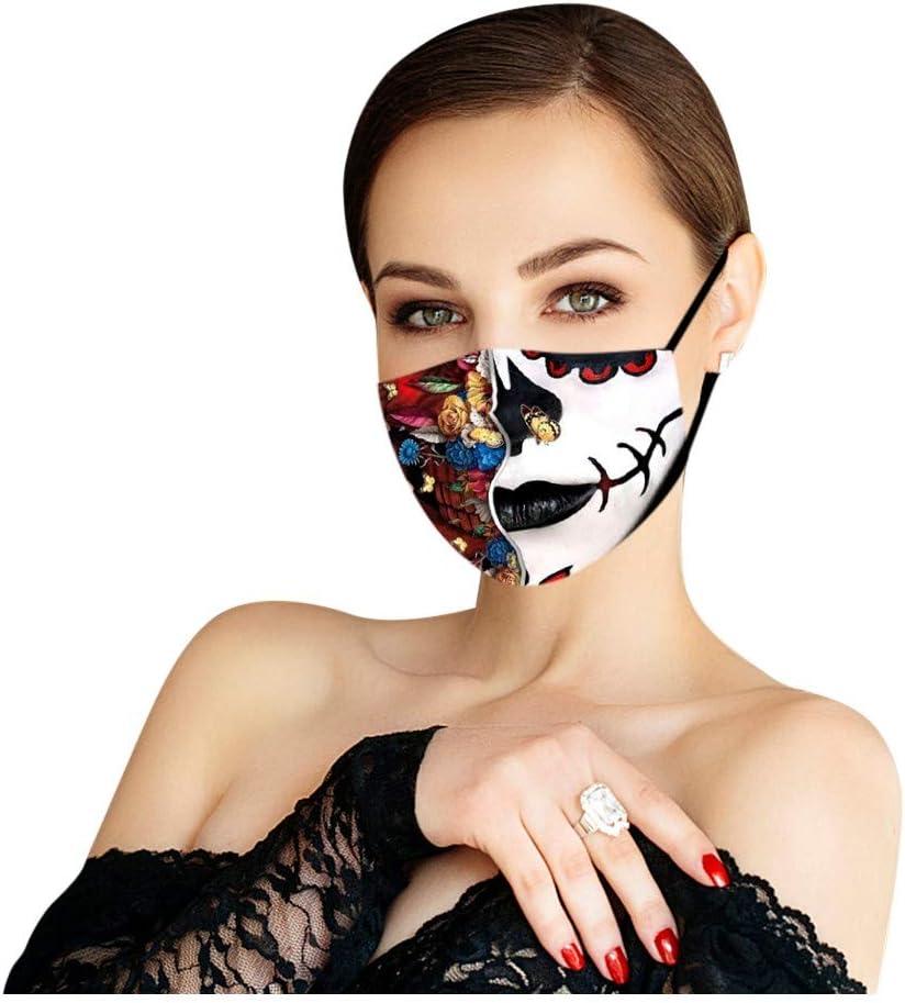 𝐌à𝐬𝐜a𝐫𝐢𝐥𝐥as Halloween Reutilizable y Lavable Transpirable protección de Adultos con Lazo de Oreja Ajustable Tela cómoda Tela a Prueba
