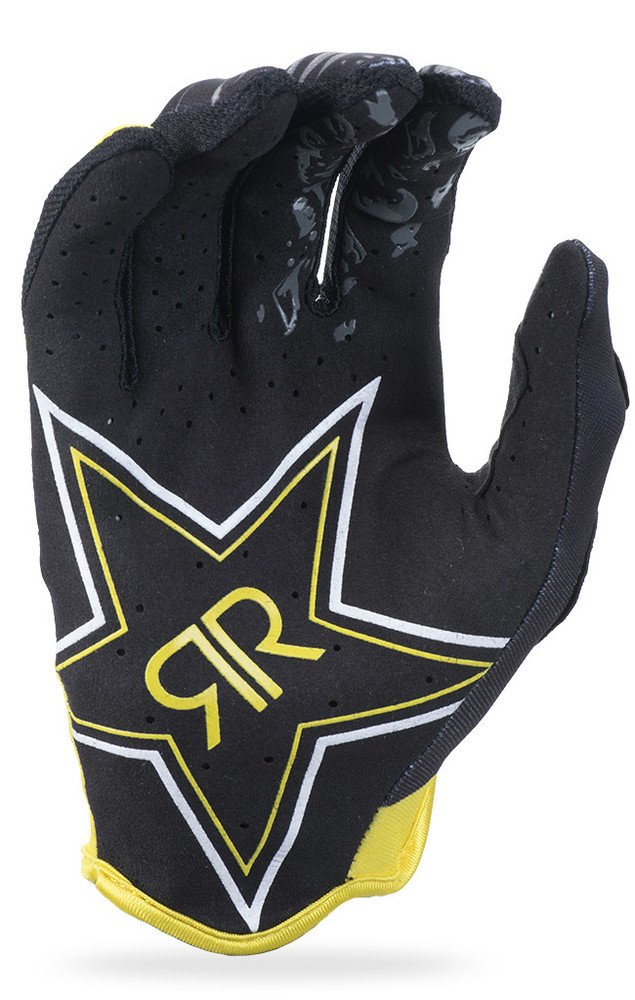 Fly Racing Unisex-Adult Lite Rockstar Gloves Black//Yellow Size 8 371-01908