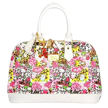 d7c81accdf Amazon.com  Hello Kitty Leather-like Shopper Tote Shoulder Hand Bag ...