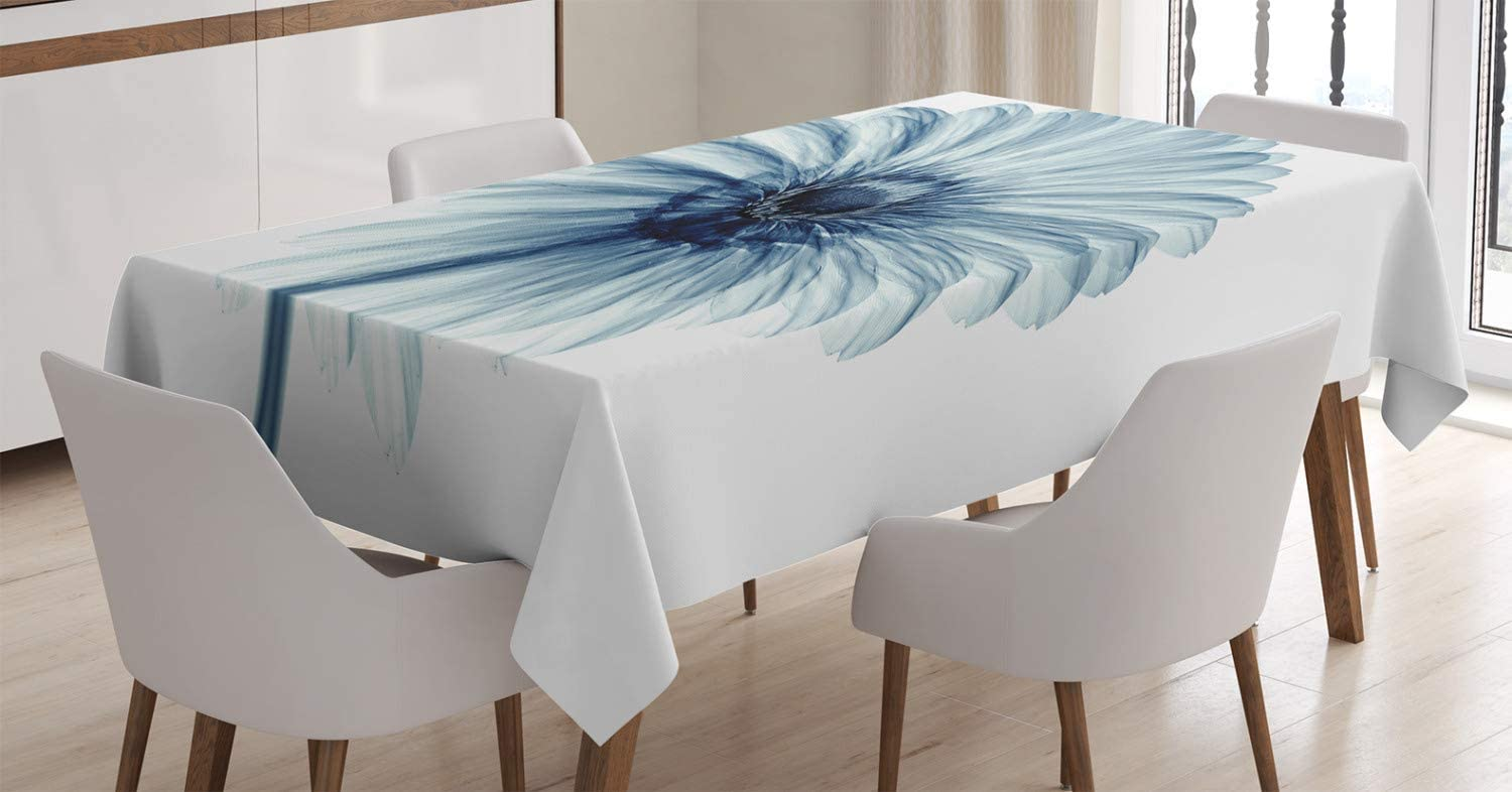 Ambesonne Flower Tablecloth, Photo of a Daisy Flower with X-Rays Different Look to The Plants in Nature Art Print, Dining Room Kitchen Rectangular Table Cover, 60