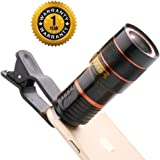 INUOAP Mobile Blur Background 8X Optical Zoom Mobile Telescope Lens kit for All Mobile Camera | Background Effect Macro Lens & Wide Angle Effect Lens