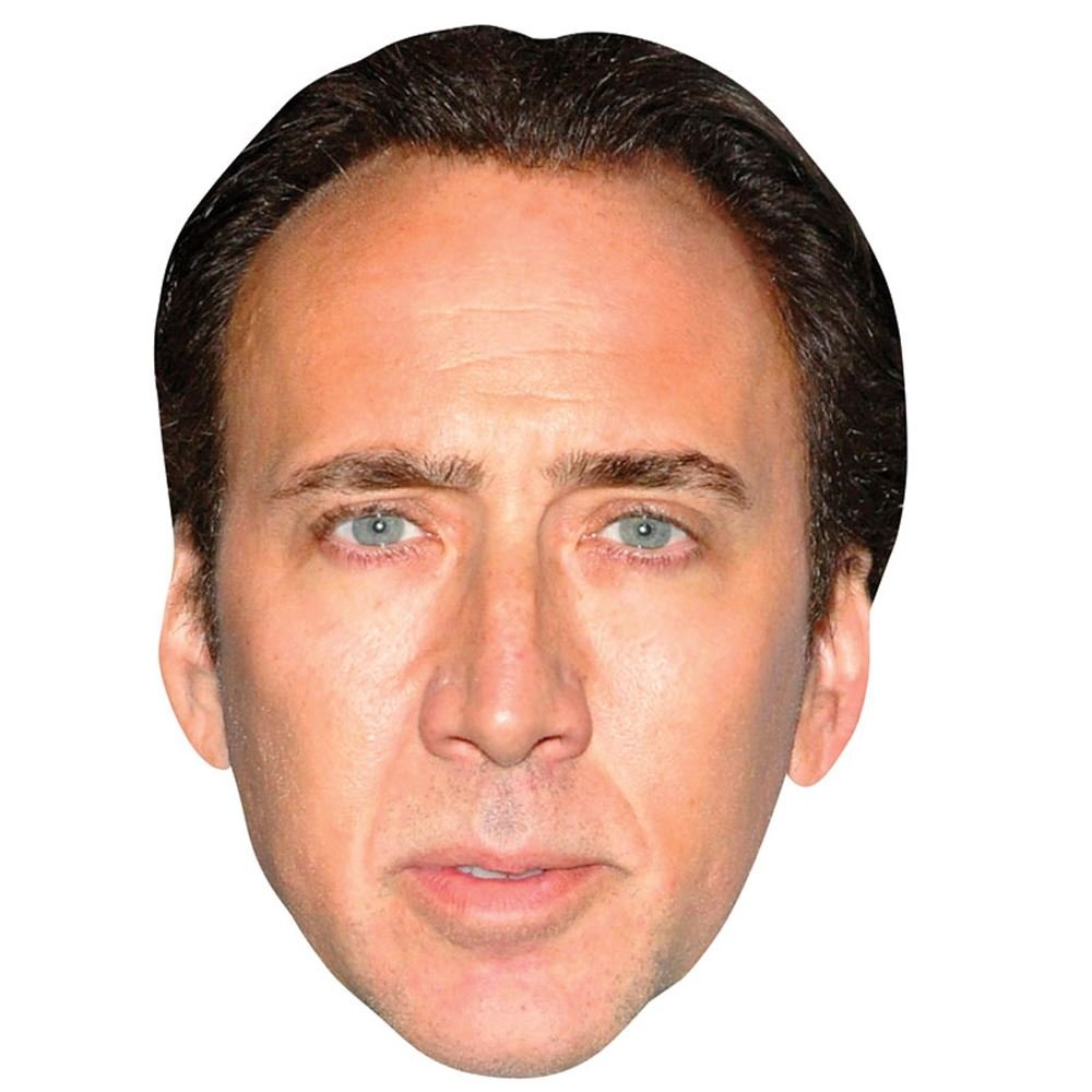 Nicolas Cage Celebrity Mask, Cardboard Face and Fancy Dress Mask by Celebrity Cutouts