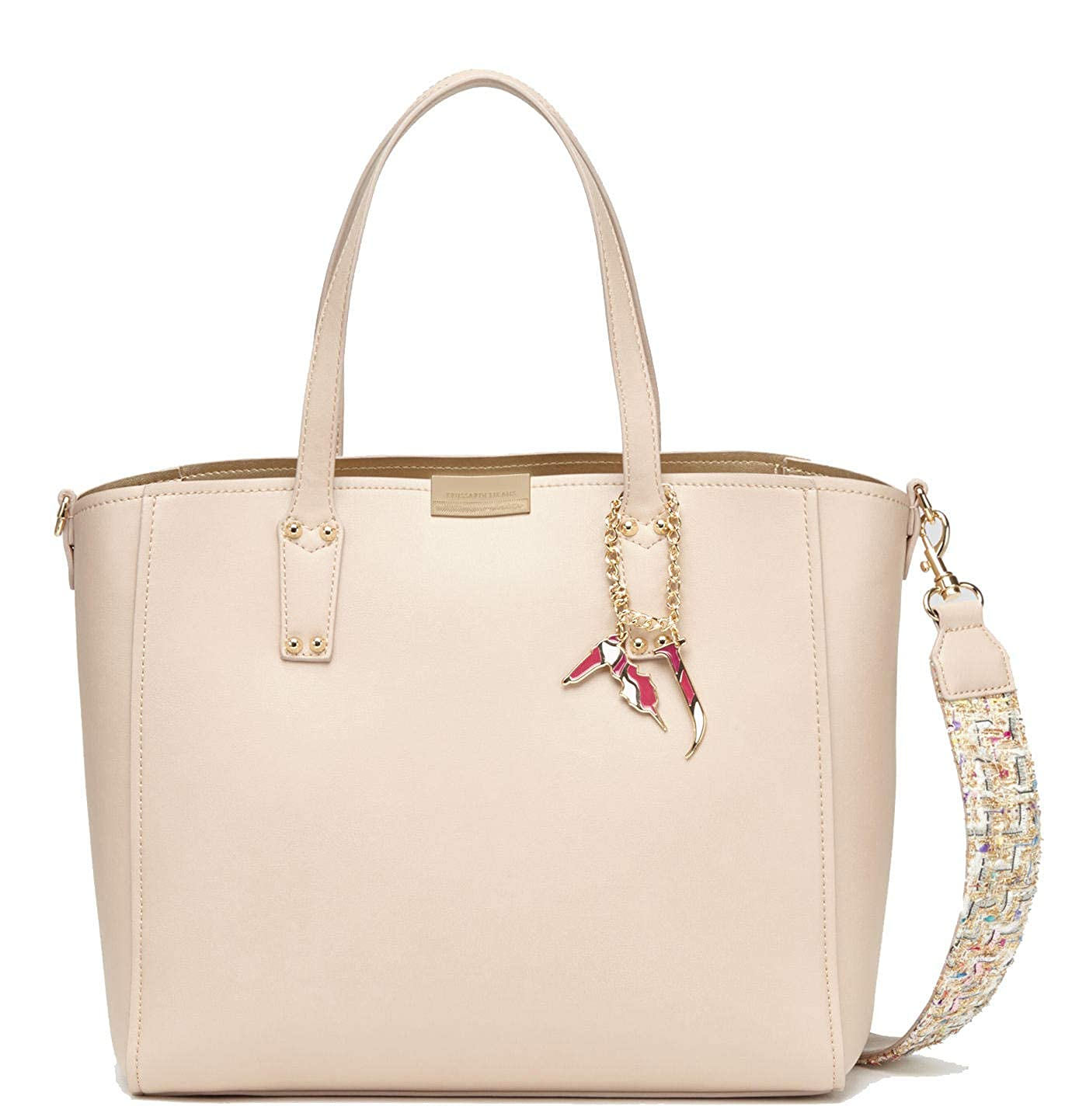 37209eb23a Borsa Donna Shopping | Trussardi Jeans Rosemary Smooth |  75B0036299999-Nude: Amazon.it: Scarpe e borse