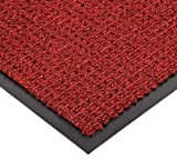 Notrax 138 Uptown Entrance Mat, for Upscale Entrances, 2' Width x 3' Length x 3/8'' Thickness, Red/Black