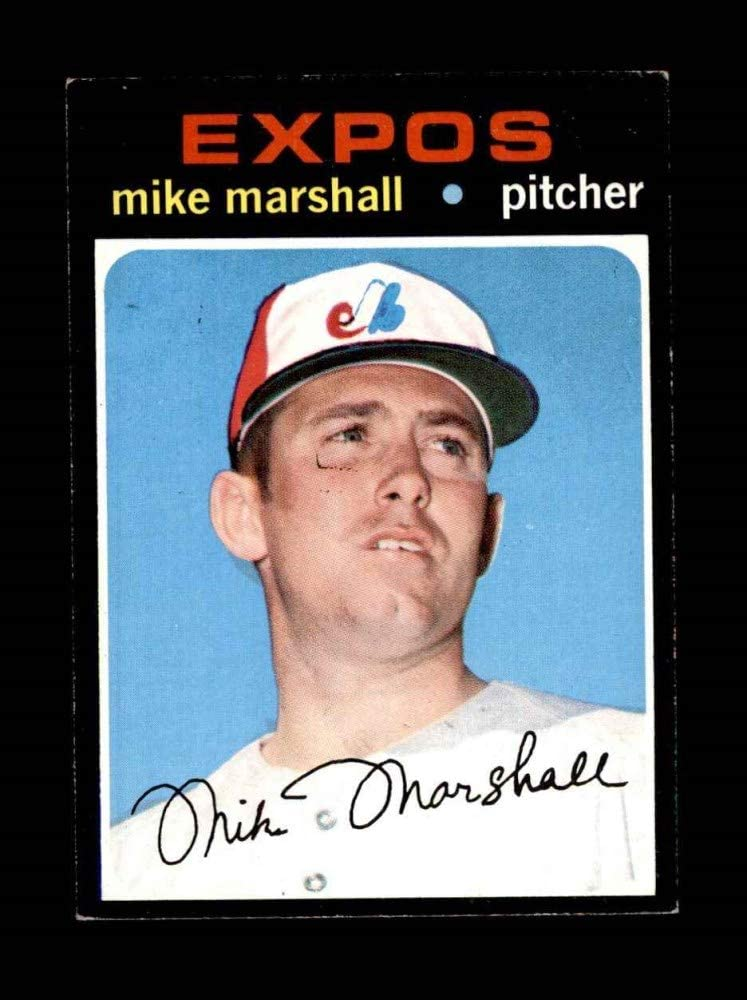 1971 Topps # 713 Mike Marshall Montreal Expos Baseball Card Deans Cards 5 EX Expos