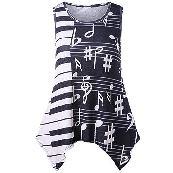 Camiseta con Estampado Musical Diadia para Mujer 27063f0f09b5