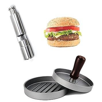 XX&GUO - Molinillos de sal y pimienta para hamburguesas ...