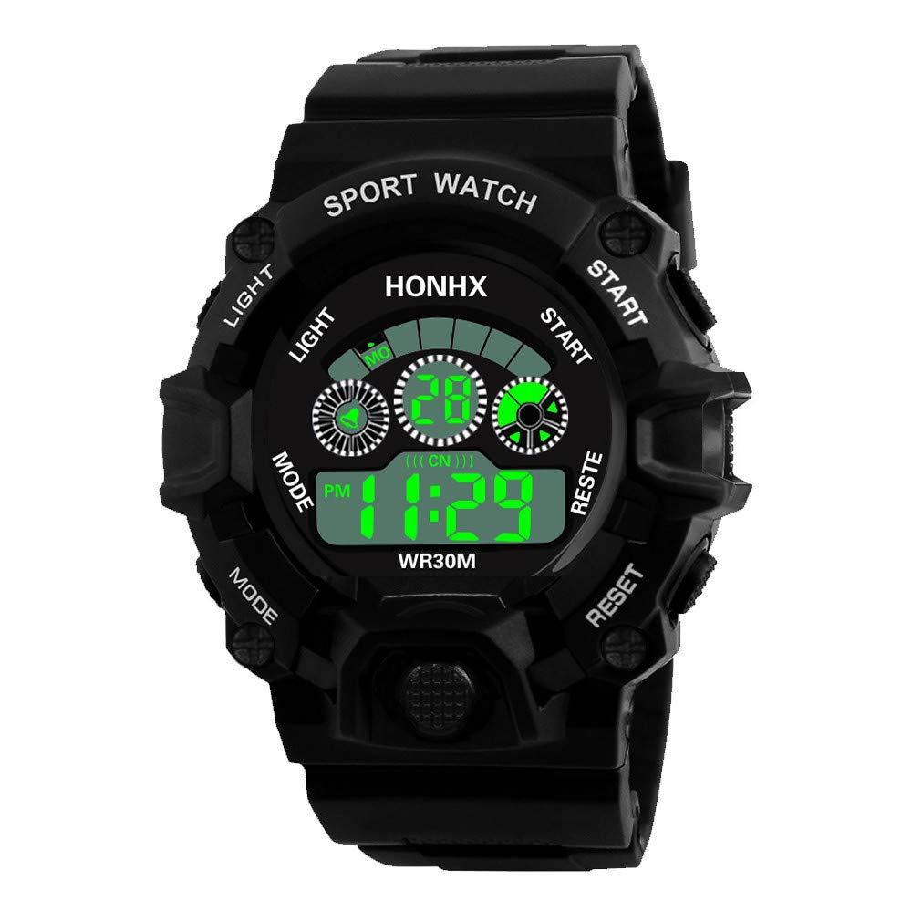 Digital Watches for Men DYTA LED Sport Wrist Watches 5ATM Water Resistant Outdoor Watch on Sale on Clearance Military Quartz Watchs with Rubber ...