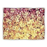 """Kess InHouse Ebi Emporium """"Flower Power in Yellow Orange Glitter"""" Dog Blanket, 60 by 50-Inch"""
