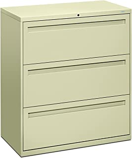 "product image for HON Brigade 700 Series Integral Pull Lateral File with 3 Drawers, 36""W, Putty"