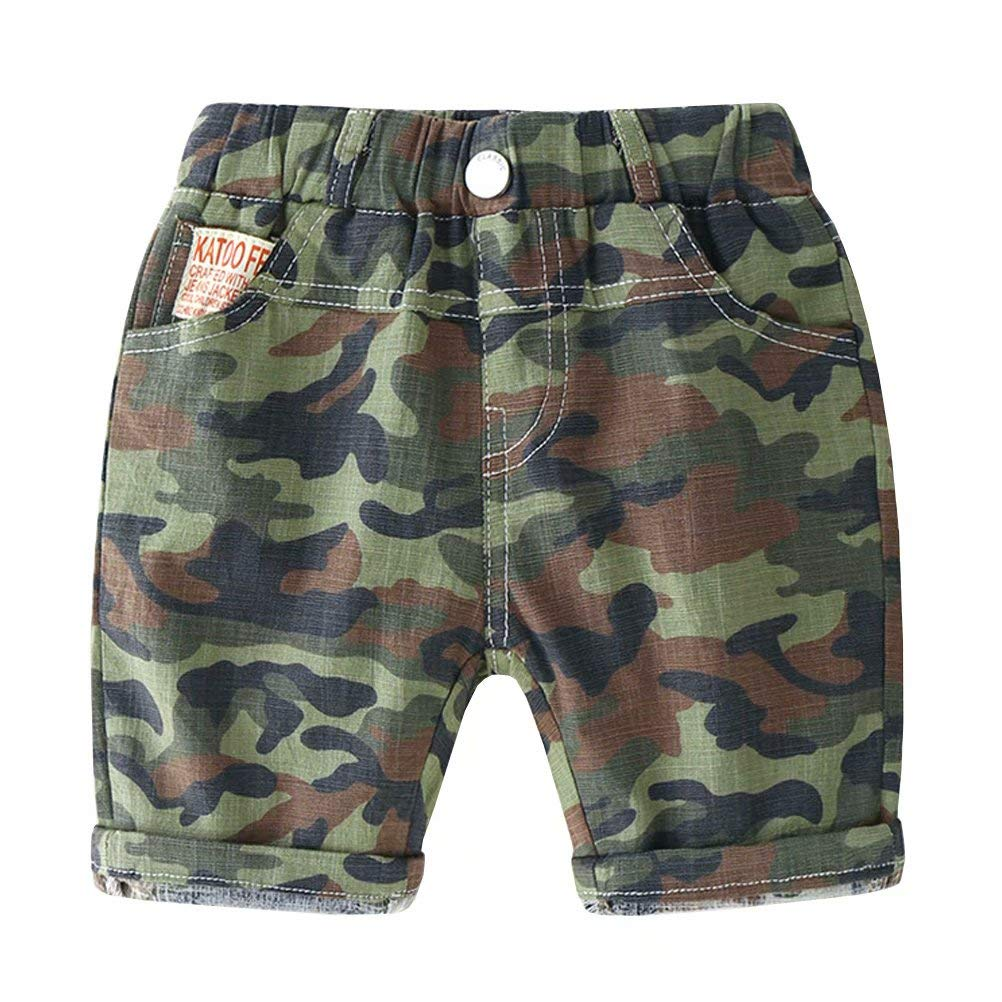 Wxian Boys Pull-On Cargo Shorts