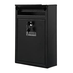 Model 111AE Stainless Steel//Anthracite Grey RAL7016//Postbox With Newspaper Holder Newspaper Holder Wall Mounted Postbox