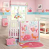 Cheap Carter's Sea Collection 4 Piece Crib Set, Pink/Blue/Turquoise
