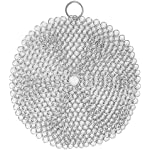 Efaithtek Cast Iron Cleaner -Premium 316L Stainless Steel Chainmail Scrubber ,8-inch Diameter Large