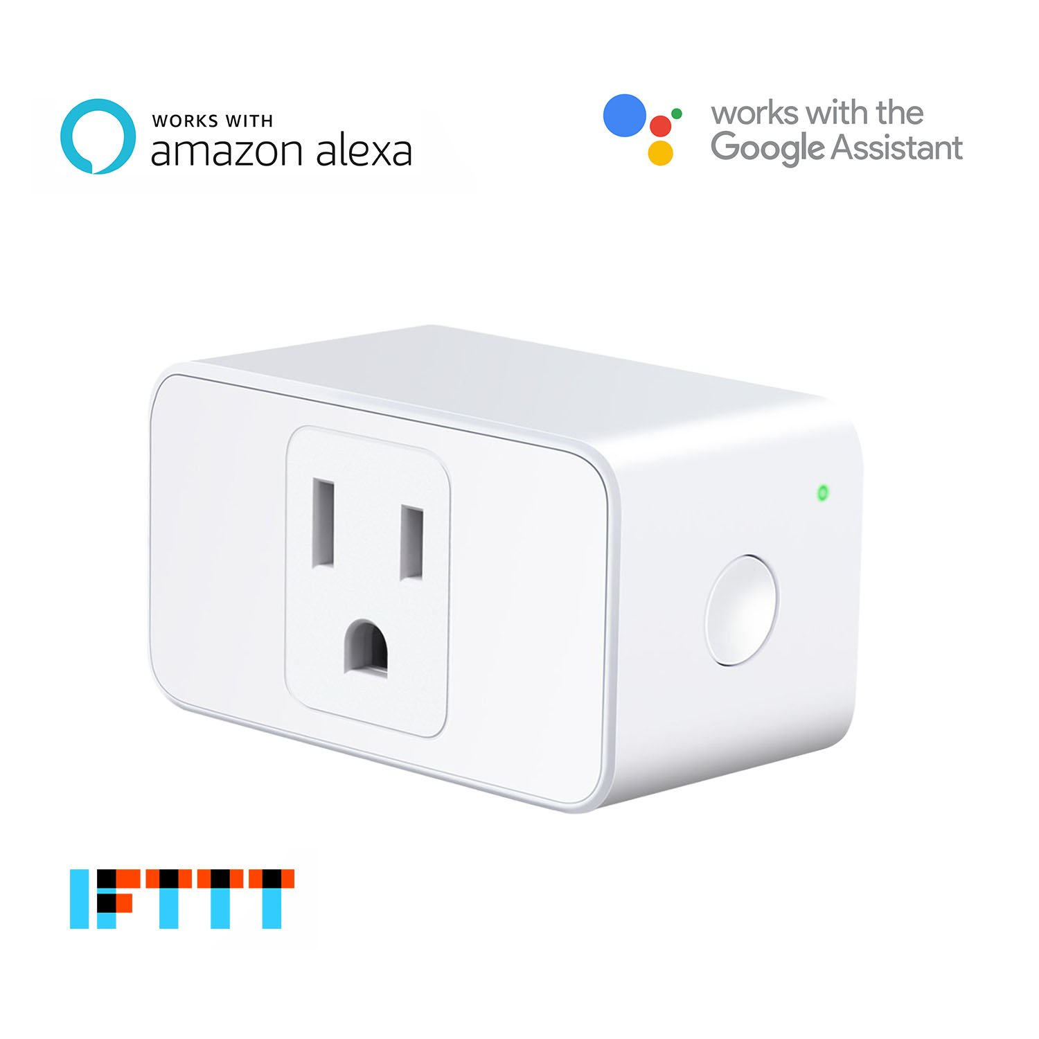 meross WiFi Smart Plug Mini, Occupies Only One Socket, App Remote Control Devices from Anywhere, No Hub Needed, FCC and ETL Complied (MSS110), Works with Alexa and Google Assistant